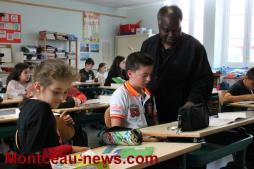 Le printemps des poètes à l'école Henri Wallon à Saint-Vallier