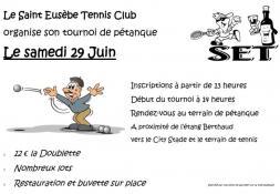 Tournoi de pétanque du Tennis Club de Saint-Eusèbe (Sortir)