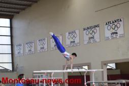 L'équipe de France sénior de Gymnastique artistique masculine en test sélectif à Montceau