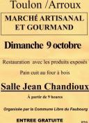 Marché artisanal et gourmand (Toulon-sur-Arroux)