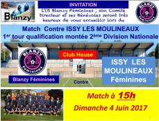 US Blanzy Féminines (Foot) : 1er tour de qualification montée 2ème division nationale