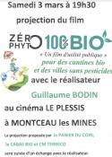 Projection du film 0 PHYTO100%BIO à Montceau