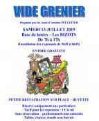 Les Bizots : Grand Vide grenier organisé par les Amis d'Antoine PELLETIER