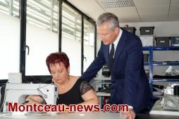 Bruno Le Maire, ministre de l'économie et des finances en visite dans la CUCM