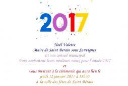 Voeux du maire de Saint-Bérain-sous-Sanvignes