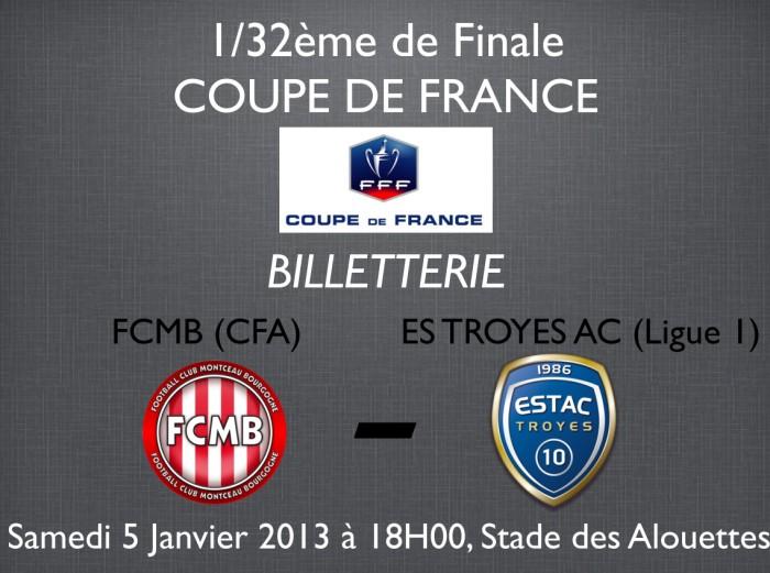 32 me de finale coupe de france fcmb troyes montceau - 32eme de finale coupe de france en direct ...