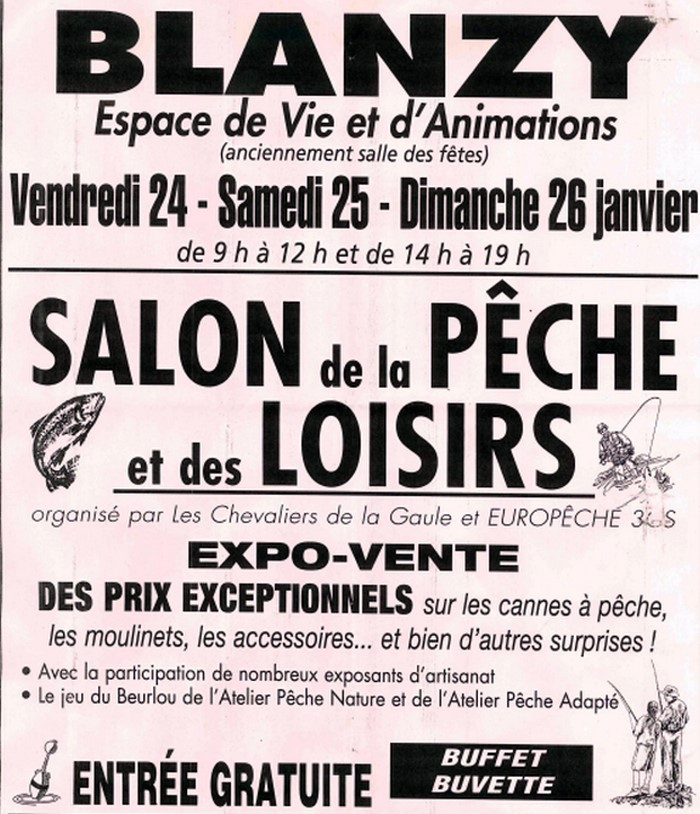 A blanzy du 24 au 26 janvier 2014 montceau news l for Salon de la peche courcelles les lens