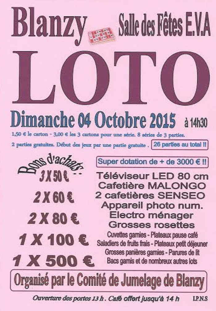 loto blanzy 3009152