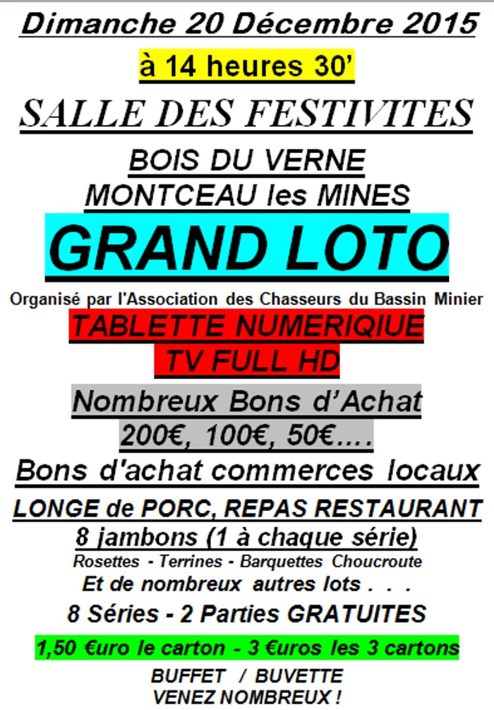 loto chasse 0712152