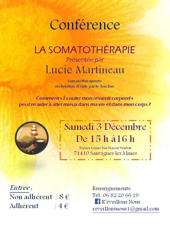Conférence «La Somatothérapie» à Sanvignes