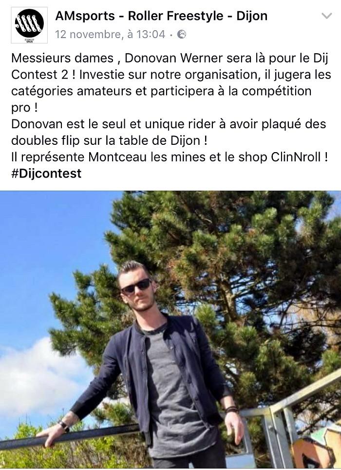 Les dernières «news» de Donovan Werner (Roller Street)