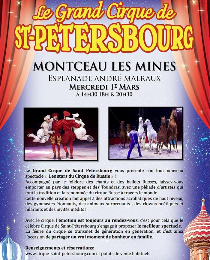 Rappel le grand cirque de saint p tersbourg montceau - Office du tourisme montceau les mines ...
