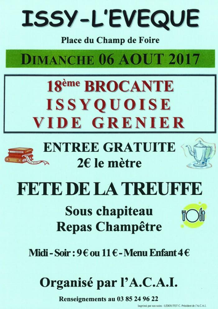 18ème brocante Issyquoise et fête de la «Treuffe»