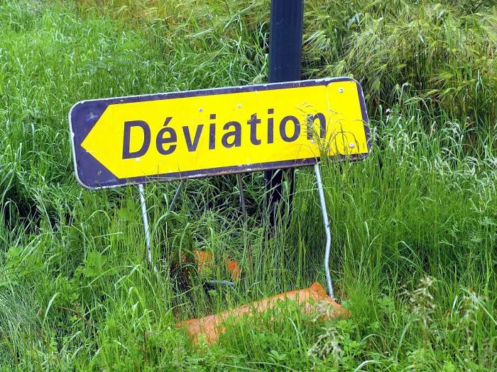 Panneau deviation 150618