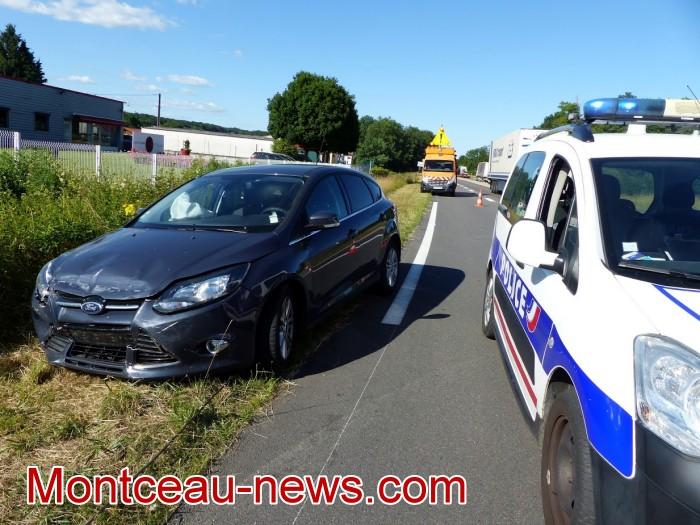 Faits divers : accident à l'échangeur de la Fiole à Blanzy…