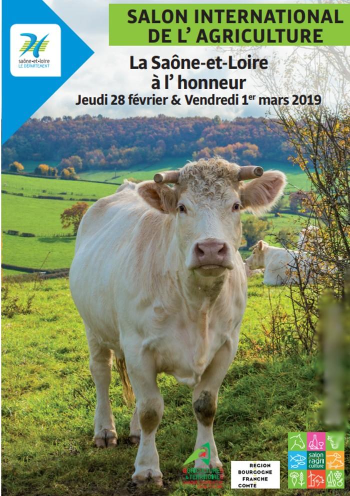 Affiche salon agriculture 2019 Saone et Loire honneur 140219