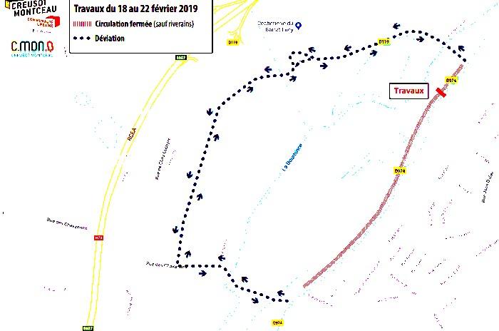 CCM Communuate urbaine Creusot Montceau travaux qua nouveau port Montceau 140219