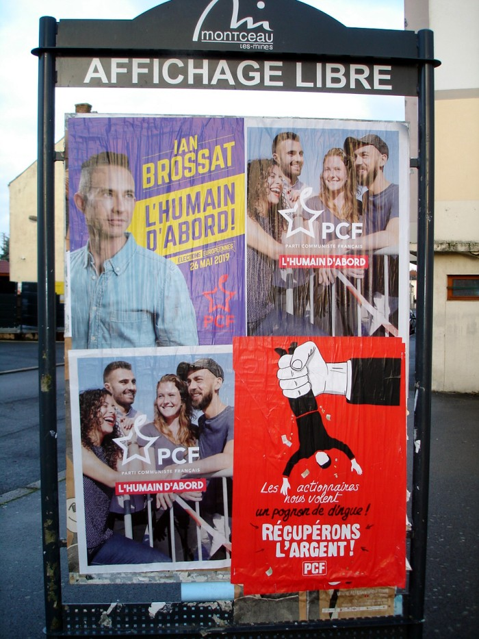Campagne europeenes PCF Montceau 100219
