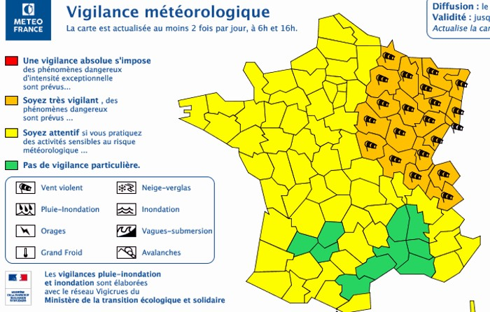 Carte meteo vigilance orange vent 100219