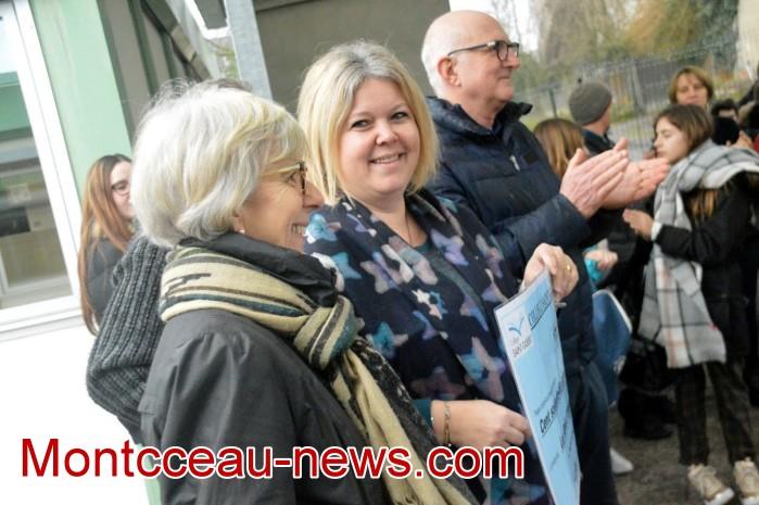 College Saint Gilbert Montceau, amis Olivier autisme cheque 0602192