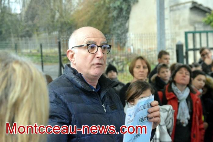 College Saint Gilbert Montceau, amis Olivier autisme cheque 0602195