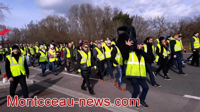 Gilets jaunes Magny acte 13 Montceau 09021942