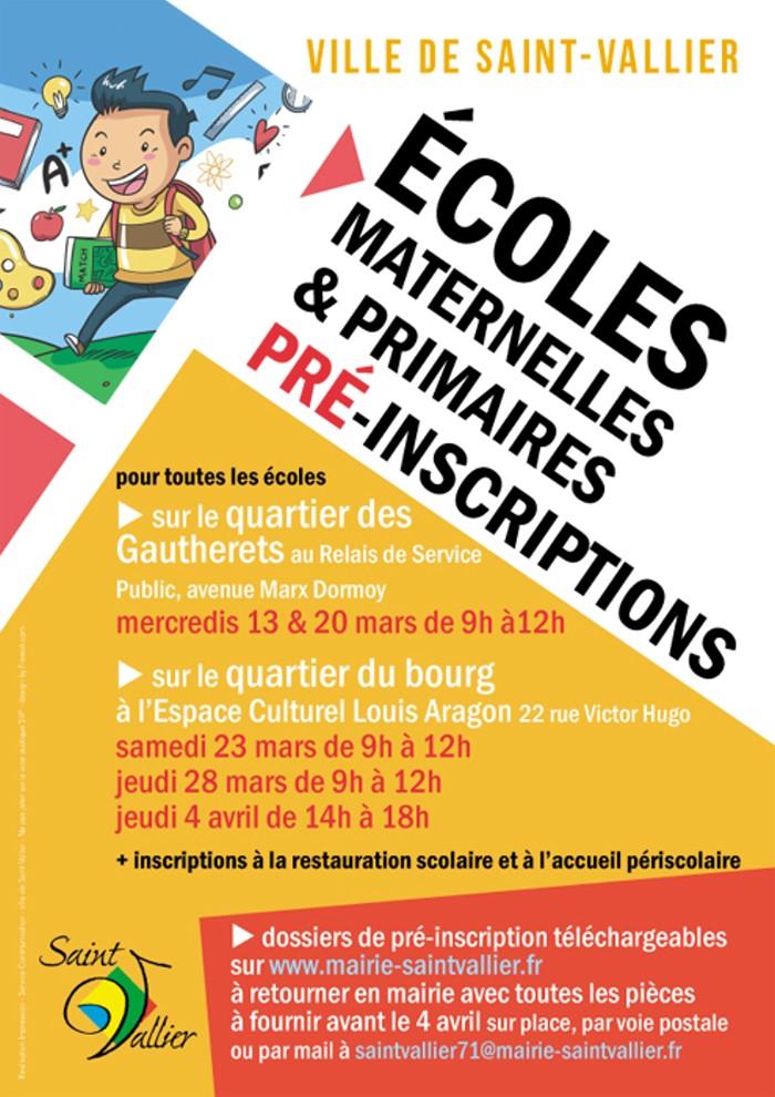 Inscription ecole maternelles primaires Saint-Vallier 71 Montceau-news.com 240219