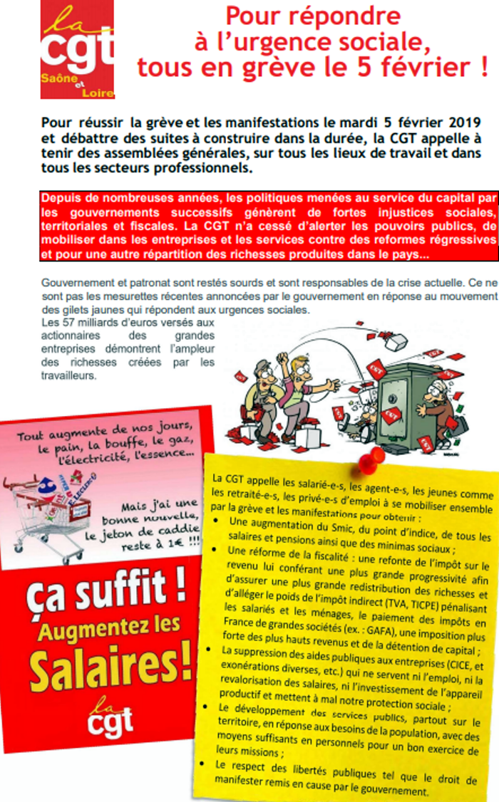 Tract CGT greve 5 fevrier 010219