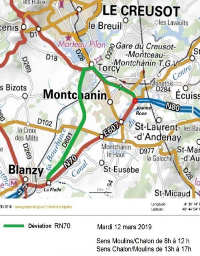 Chantier RCEA RN70 route road express Montceau-news.com 110319