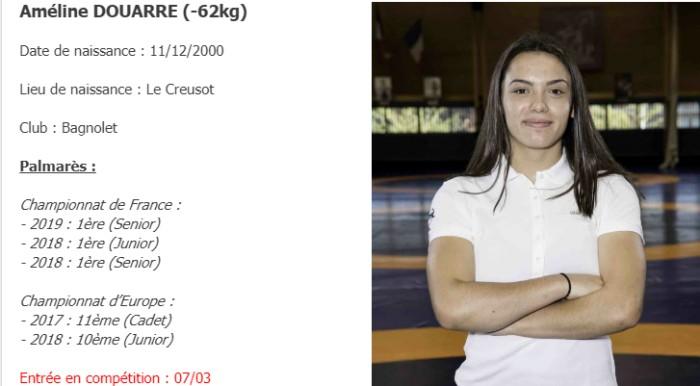 Lutte femme Ameline Douarre Creusot championnat Europe medaille bronze 2019 Montceau-news.com 120319