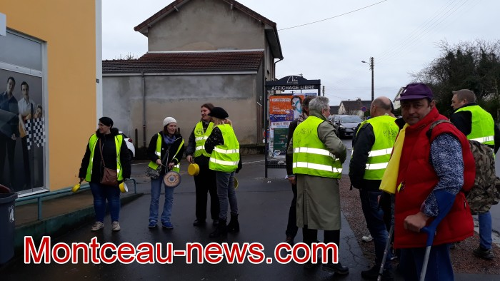 Mouvement gilets jaunes Magny Montceau social Montceau-news.com 090319