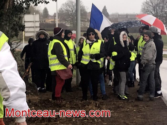 Mouvement gilets jaunes Magny Montceau social Montceau-news.com 09031912