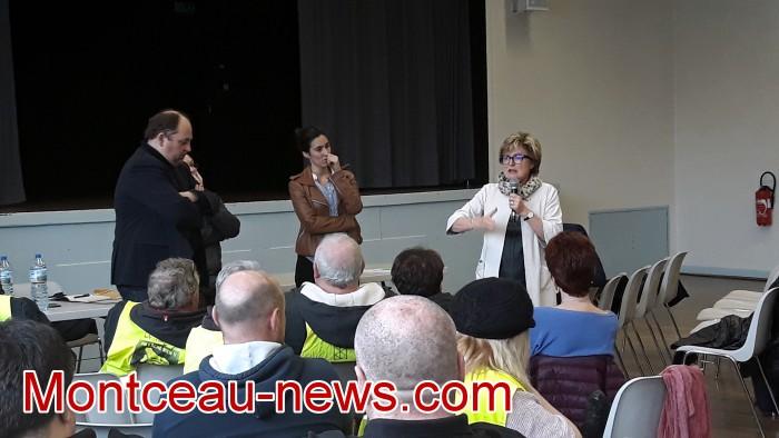 Mouvement gilets jaunes Magny Montceau social Montceau-news.com 09031919