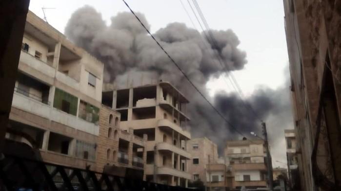 SEDDIK Adnan Syria Charity bombardemant ville Idlib cadavres Montceau-news.com 1303191