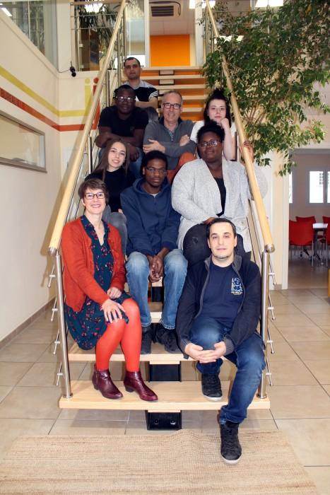 Visite de Onze Plus par des stagiaires de E2C ensignemeent Montceau ecole deuxieme chance 070319