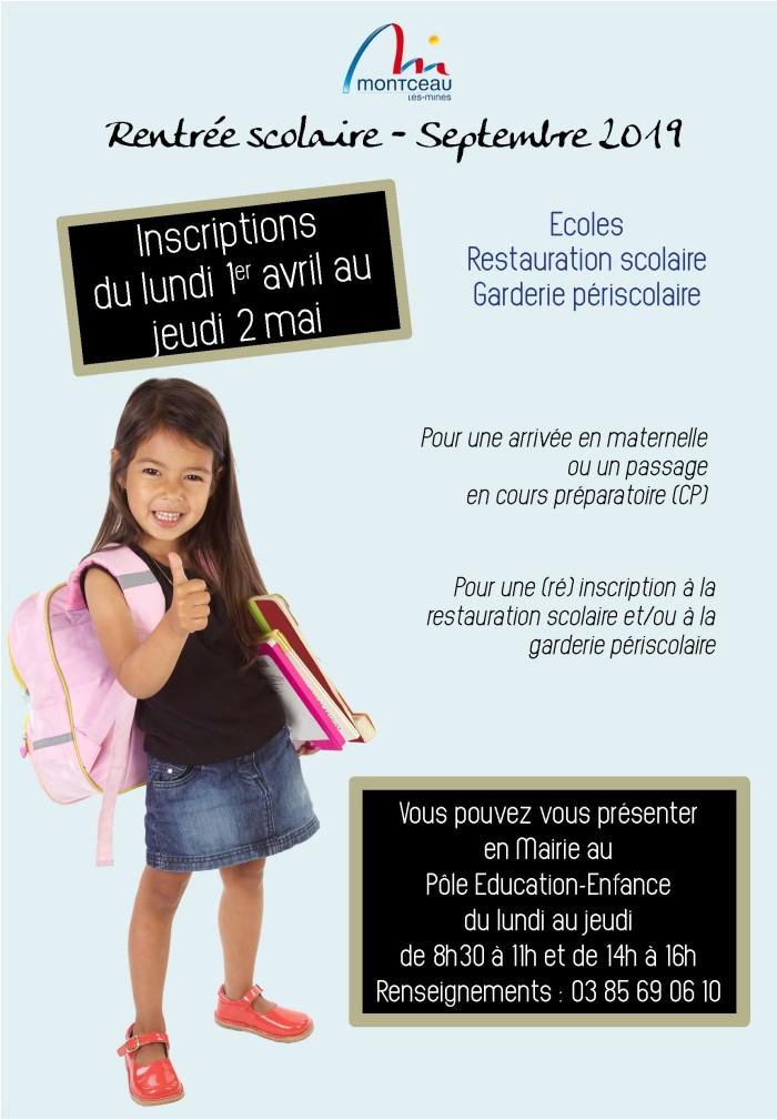 rentree scolaire Montceau ville city 180319