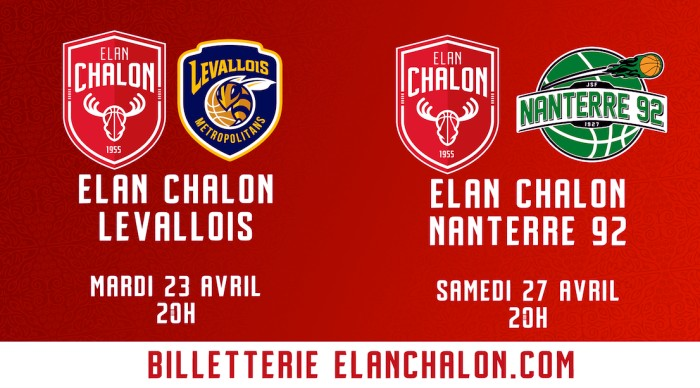 BASKET Jeep Elite Elan Chalon Nanterre match billet annonce reservation Montceau-news.com 170419