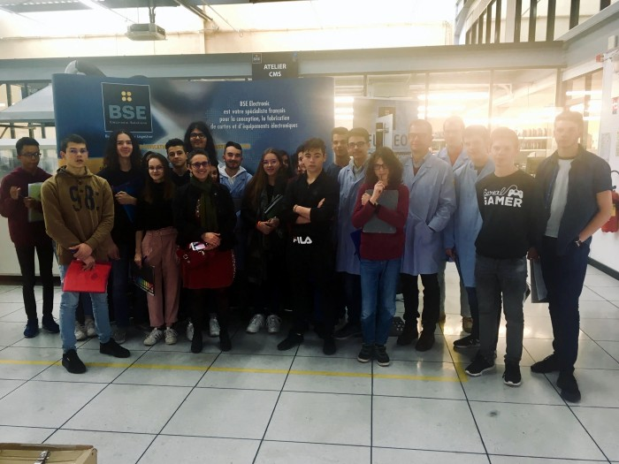 Visite BSE entreprise electronique Creusot student lycee Parriat enseignement Montceau-news.com 0904198