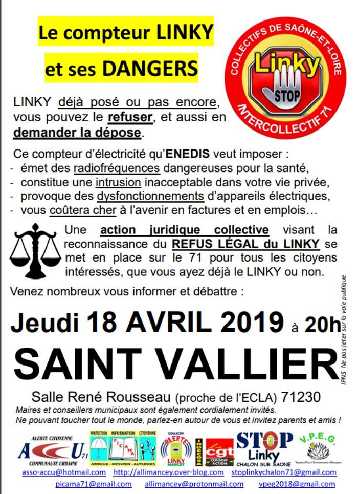 compteur Linky Eneddis EDF reunion public contre anti Montceau-news.com 130419
