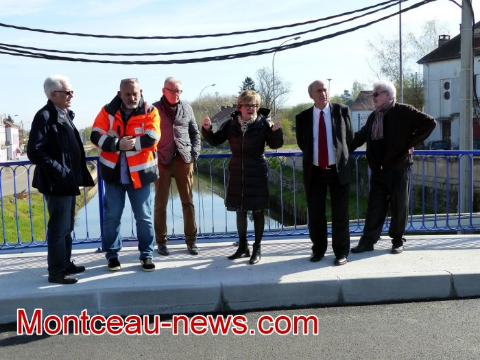 refection pont Lucy CCM CUCM travaux chantier open ouverture circulation Montceau-news.com 170419