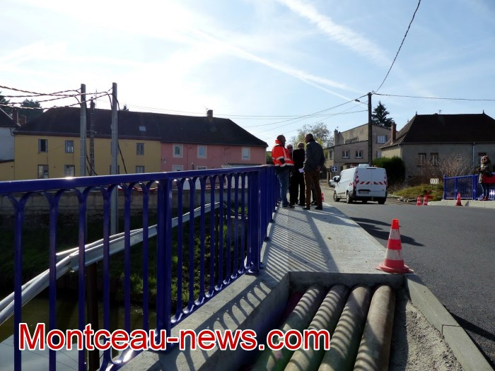 refection pont Lucy CCM CUCM travaux chantier open ouverture circulation Montceau-news.com 1704194