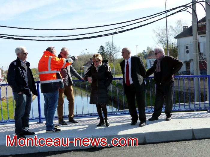 refection pont Lucy CCM CUCM travaux chantier open ouverture circulation Montceau-news.com 1704196
