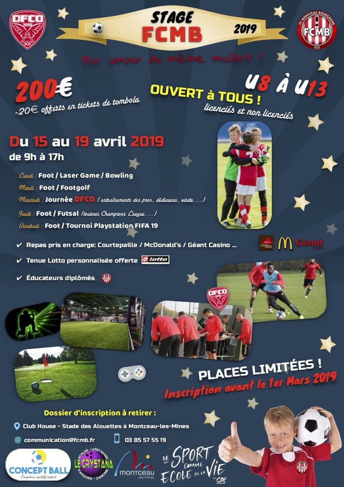 stage foot FCMB vacances holidays Paques soccers young Montceau-news.com 160419