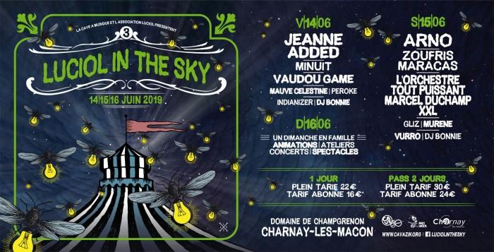 Flyer festival sky in Luciol cave a musique Macon sortir loirirs teaser annonce tract affiche Montceau-news.com 160519