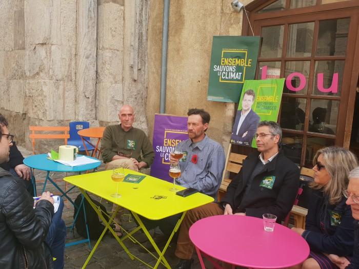 Vincent Talmot candidat ecologiste EELV liste Europe campagne politique Saone-et-loire Bourgogne Yannick Jadot Montceau-news.com 080519