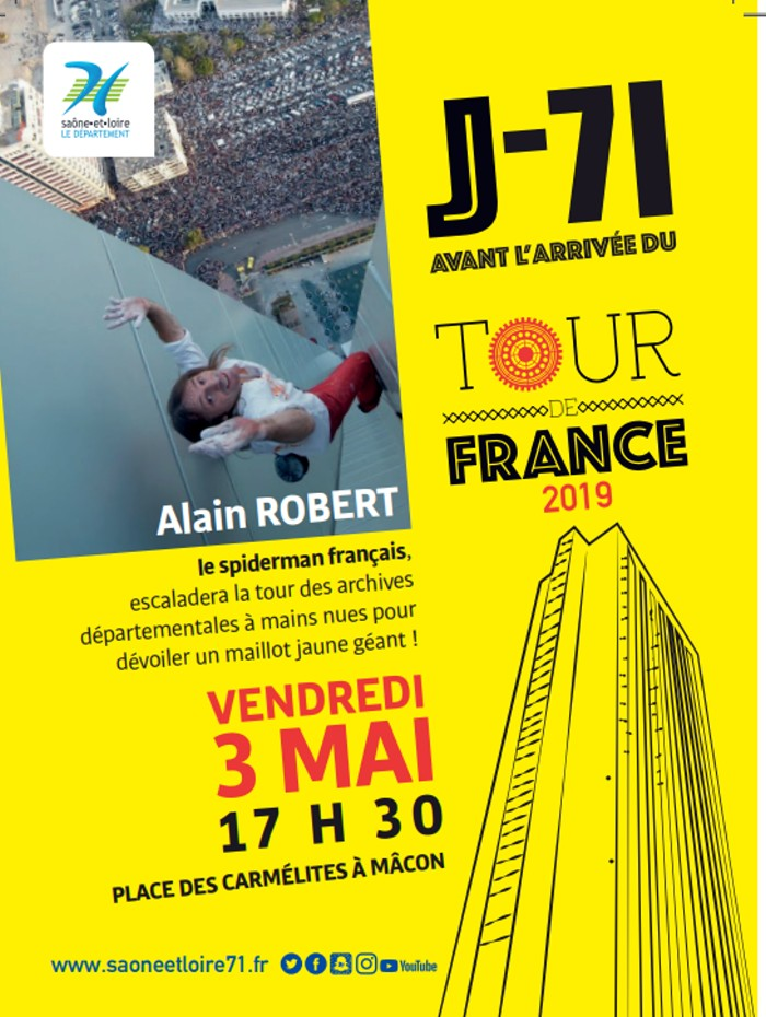 escalade Alain Robert tour archives departement71 exploit Montceau-news.com 030519