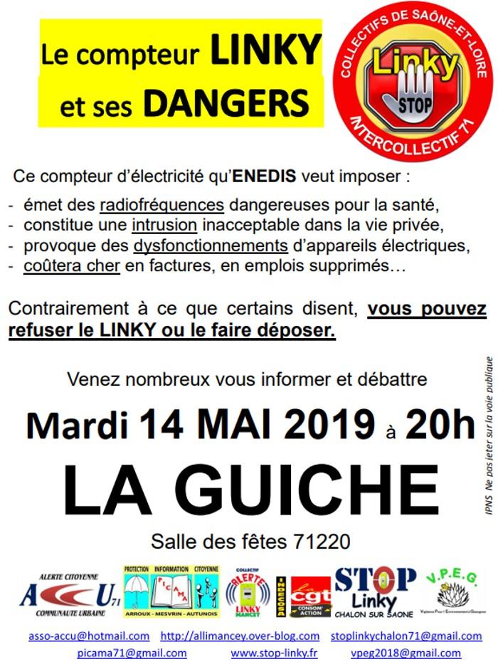 meeting information info compteur Linky Enedis ERDF anti contre opposant hypersensible ondes malade Montceau-news.com 050519
