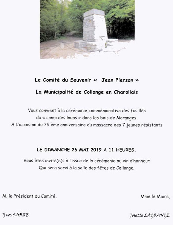 resistance crume nazi SS comite Jean Pierson gierre war mondiale Allemagne embuscade FFI FTP stele,hommage souvenir devoir memoire Montceau-news.com 190519