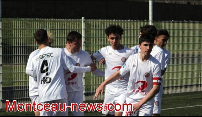 resume compte-rendu match foot football soccers U18R R1 FCMB jeunes juniors Montceau-news.com 120519