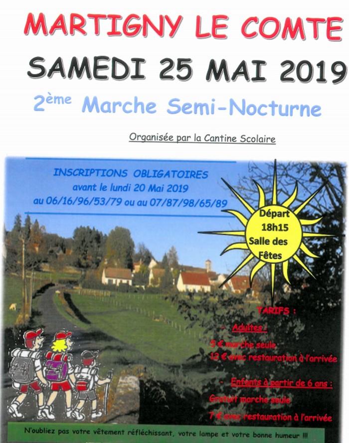tract affiche Martigny comte marche rando randonnee semi-nicturne nuit night sortir loisirs Montceau-news.com 120519